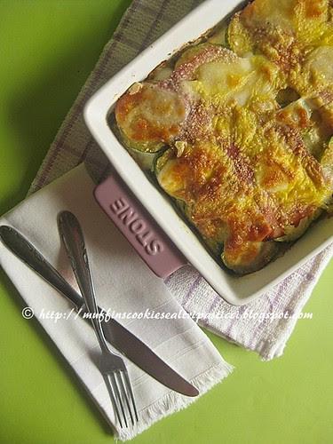 Parmigiana bianca di zucchine, my way