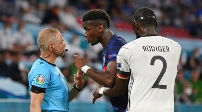 Рюдигер попытался укусить Погба во время матча Франция — Германия на Евро-2020