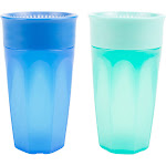 Dr. Brown's Cheers 360 Spoutless Training Cup, 9m+, 10 Ounce, Blue/Aqua, 2 Count