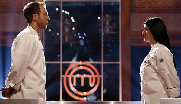 Luca Manfé competes against Natasha Crnjac in the Season 4 finale of FOX's MASTERCHEF...on September 11, 2013.