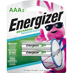 Energizer - Recharge Power Plus Rechargeable AAA Batteries (2-Pack)