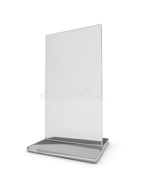Leaflet holder on white. stock illustration. Illustration