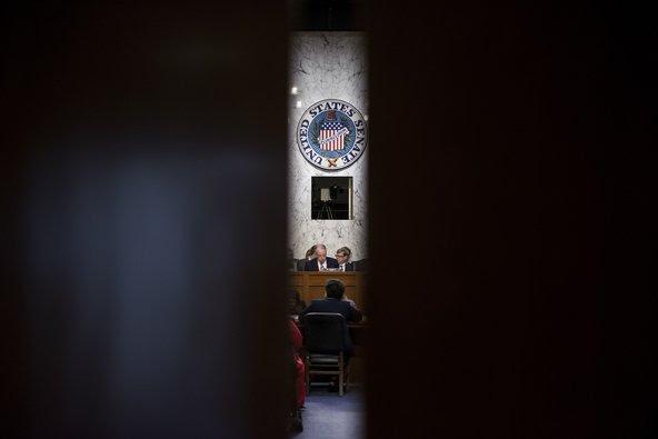Loretta E. Lynch testifying before the Senate Judiciary Committee on Wednesday.