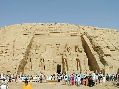 Ramses II's temple and mountain