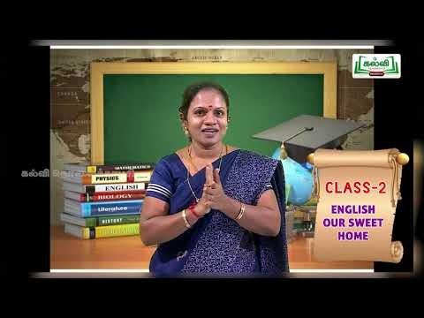 2nd English Prose Our Sweet Home Term 1 Unit 1 Kalvi TV