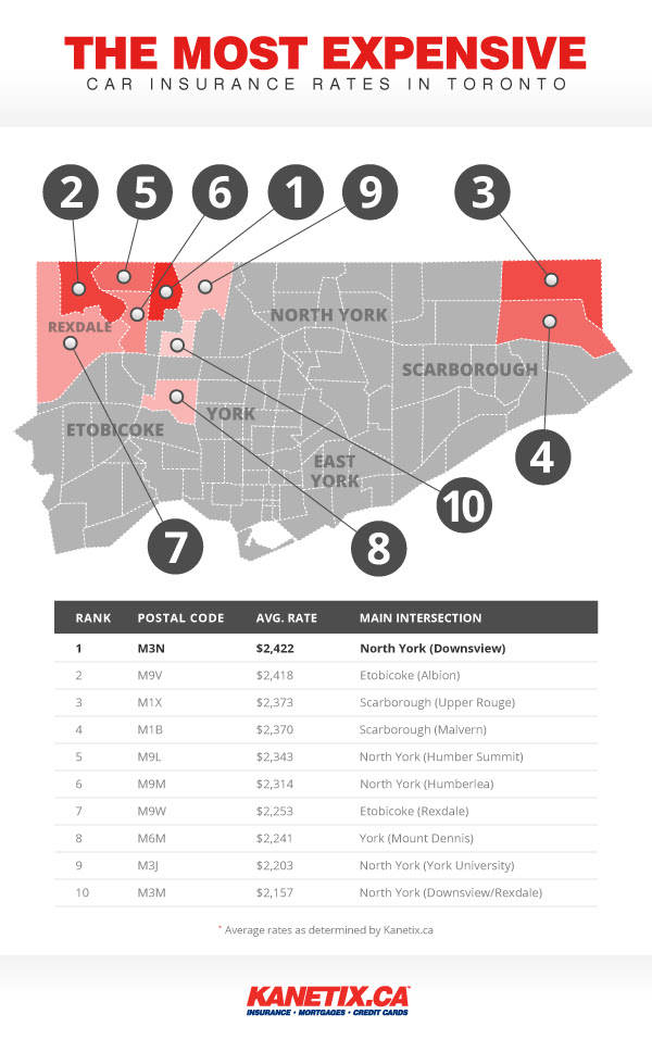 Toronto's most expensive car insurance found in areas of ...
