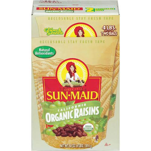 Sun-Maid California Organic Raisins - 2 pack, 32 oz bags