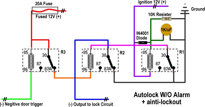 Power Door Lock Relay Wiring