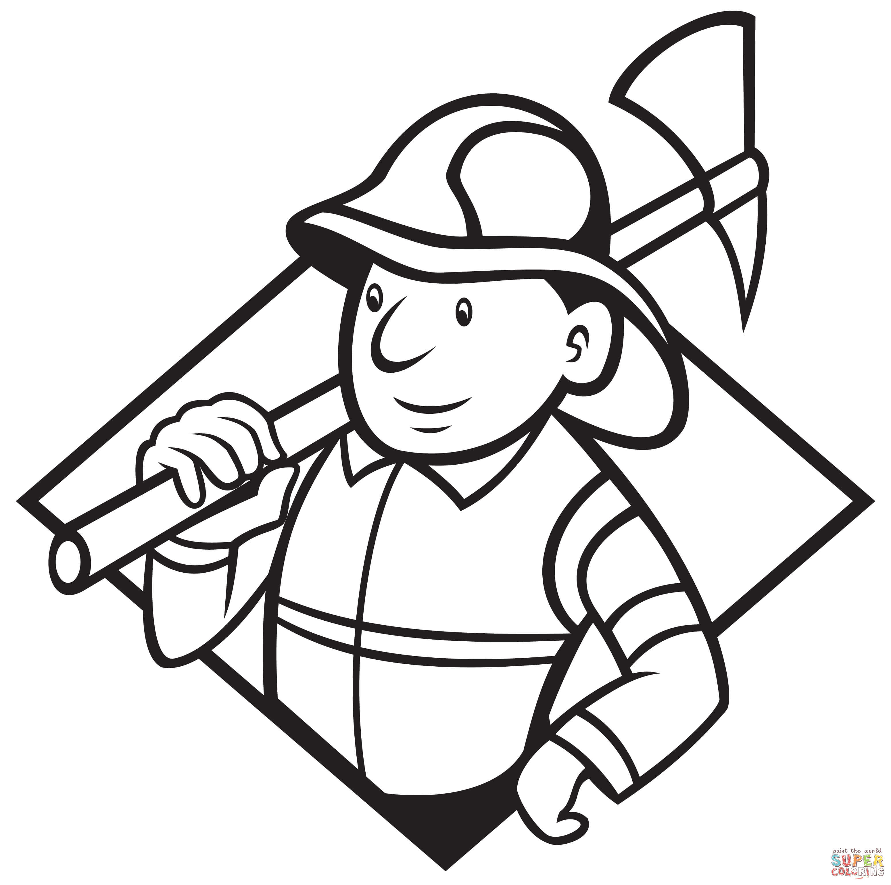 Klick das Bild Feuerwehrmann mit Axt