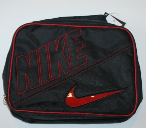 Lunch Box Nike Boys Black Red Swoosh Insulated Lunch Box