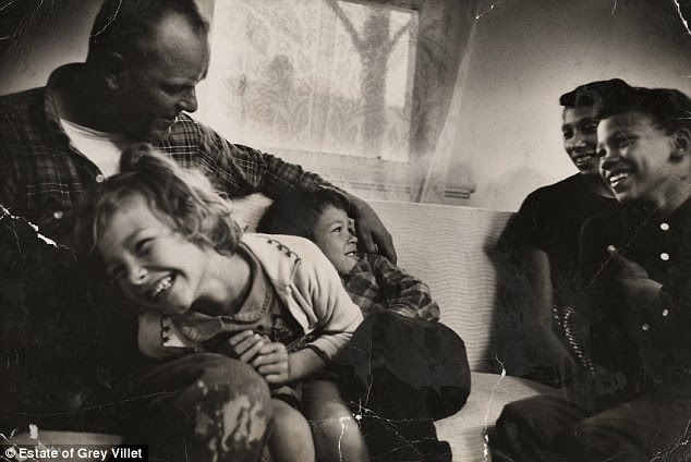 Love: Grey Villet captures Richard and Mildred Loving with their children Peggy, Donald and Sidney in their living room in King and Queen County, Virginia, April 1965