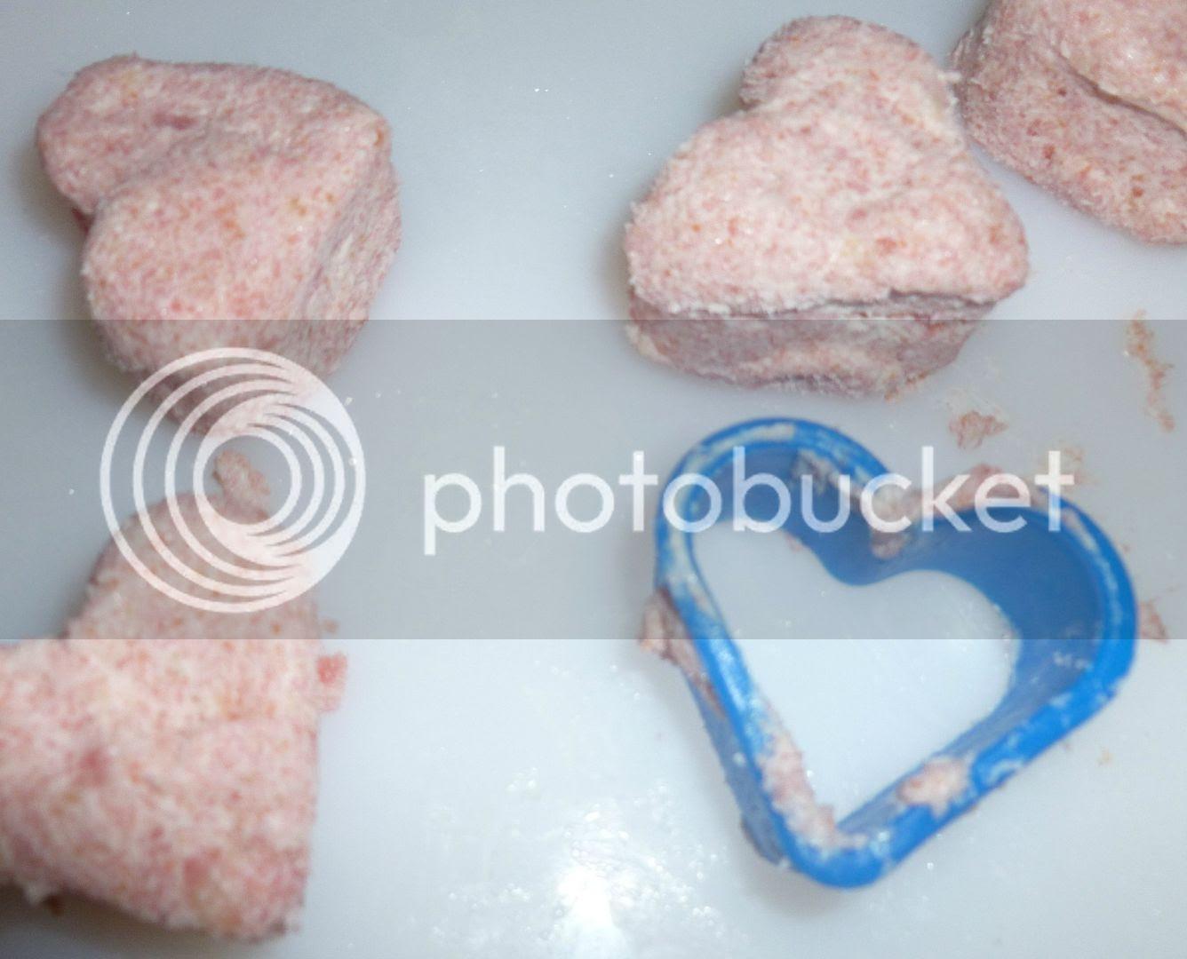 heart shaped cake mixture