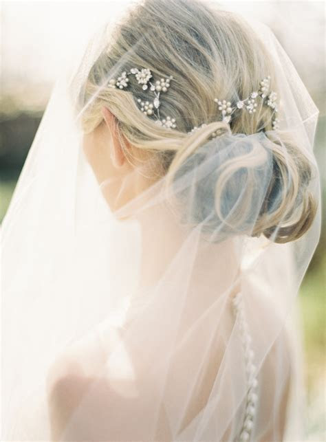 wedding hairstyles  drop veil  wed