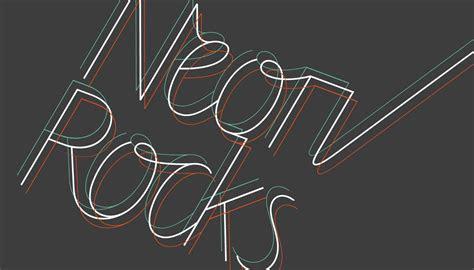 logo design neon rocks pr toop studio brighton