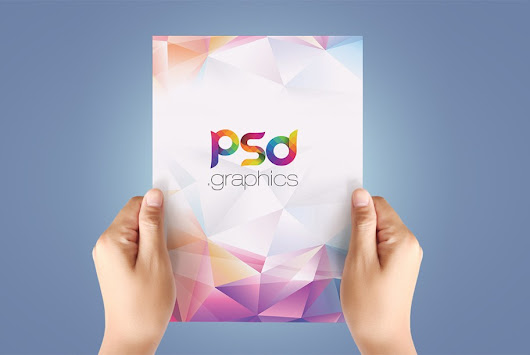 A4 Paper in Hand Mockup Free PSD | PSD Graphics