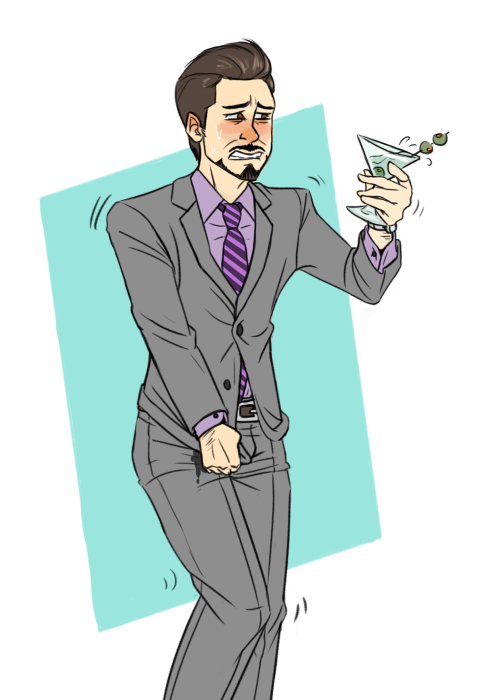 wobblygreenwaterballoon:  Finished Tony Stark omo commission for @ladycomedian! Commission Info here