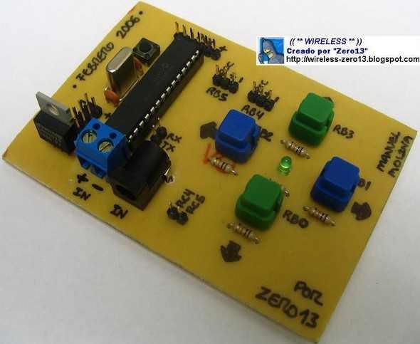 xy-cơ-ante on-the-16F876-servo mạch PICBasic
