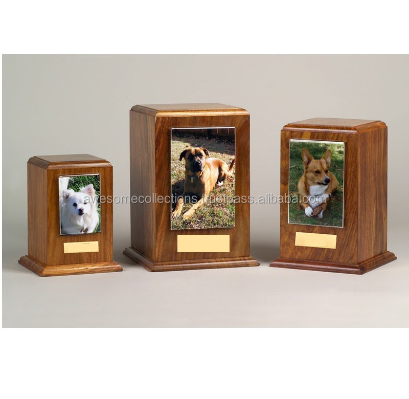 Wooden Pet Urn With Photo Frame Rosewood Buy Wooden Pet Urn With