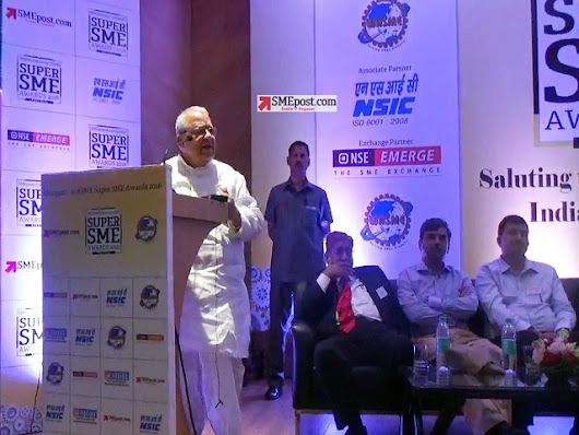 #SuperSMEawards Indian MSME Minister Kalraj Mishra says recognition will fuel growth of SME sector at Super SME Awards