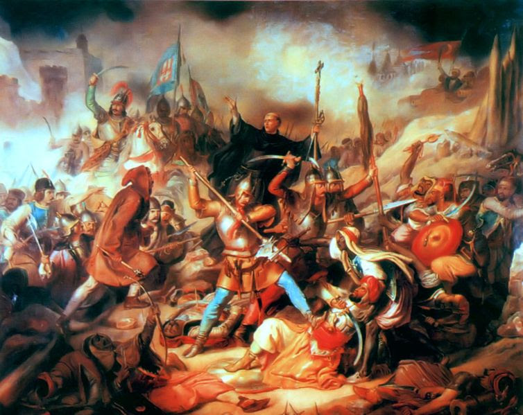 St. John in the middle of the Battle