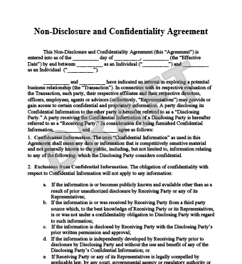 It can be used in a wide range of scenarios to protect information from being exposed, including discussing business mergers, pitching newly developed technology to investors, or the hiring of new employees that will have access to highly secret (and valuable) information. Declaration Of Trust Employee Non Disclosure Agreement California