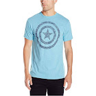 Alta Marvel Men's Captain America Shield Graphic T-Shirt - Light Blue Tri Blend AmericanShield-XL