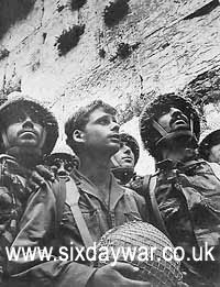 The Six Day War - Soldiers at Western Wall after capture - picture David Rubinger