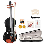 Glarry GV103 4/4 Full Size Beginner Acoustic Violin Outfit Black