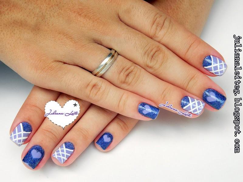 nail art juliana leite lilás amor love coração glitter decorada 019