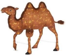 led lighted tinsel camel nativity scene item christmas