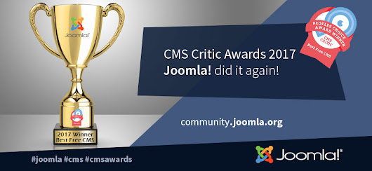 Joomla! is the Best Free CMS, by 2017 CMS Critic Awards