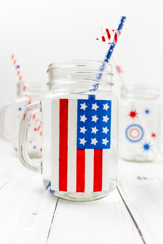 Patriotic Painted Glasses for the Fourth of July | The Kolb Corner