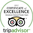 American Riviera Tours receives Certificate of Excellence form TripAdvisor