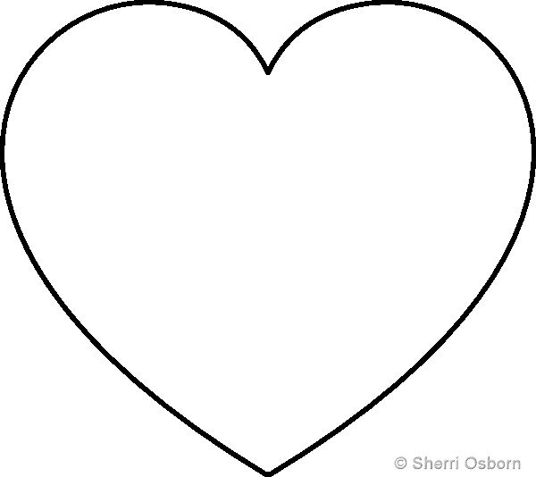 1000+ ideas about Heart Template on Pinterest   Heart patterns ...