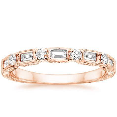 Vintage Diamond Baguette Ring (1/3 ct. tw.) in 14K Rose Gold