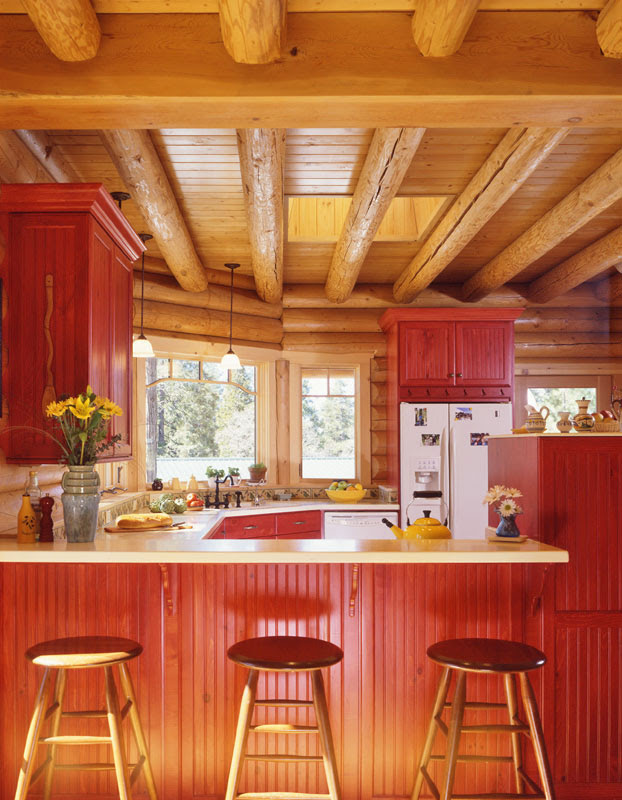 add color to your home « Real Log Style