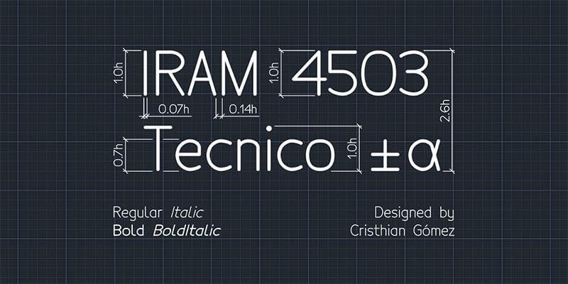 tecnico-font-free