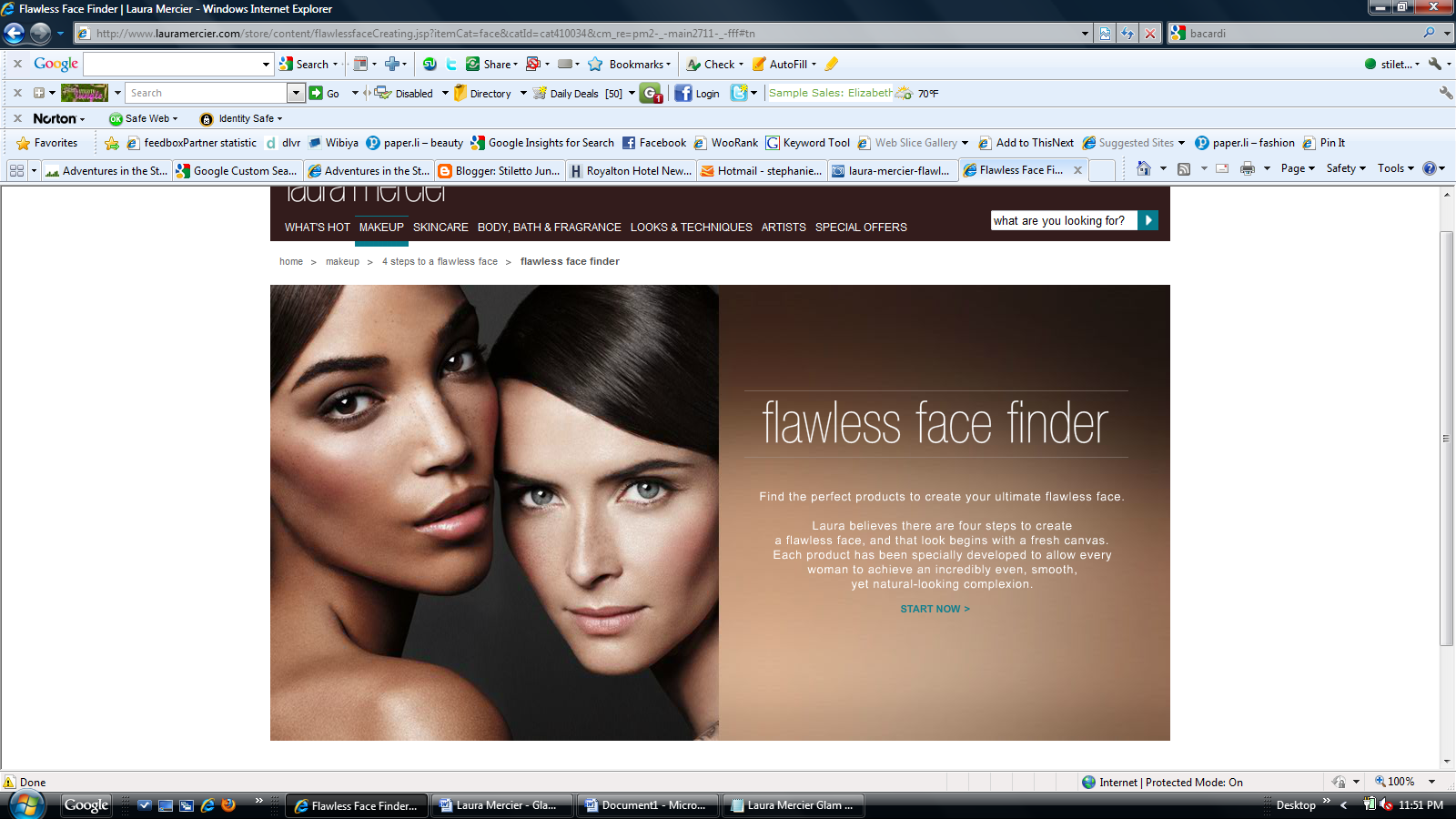 Laura Mercier Flawless Face - The Flawless Face Finder
