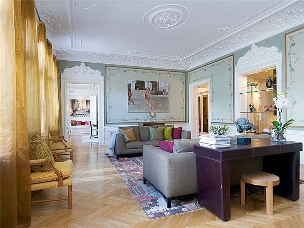 3-bedroom apartment with a classical interior design in Sweden