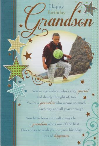 Happy Birthday Grandson Personalised Braille Birthday Card