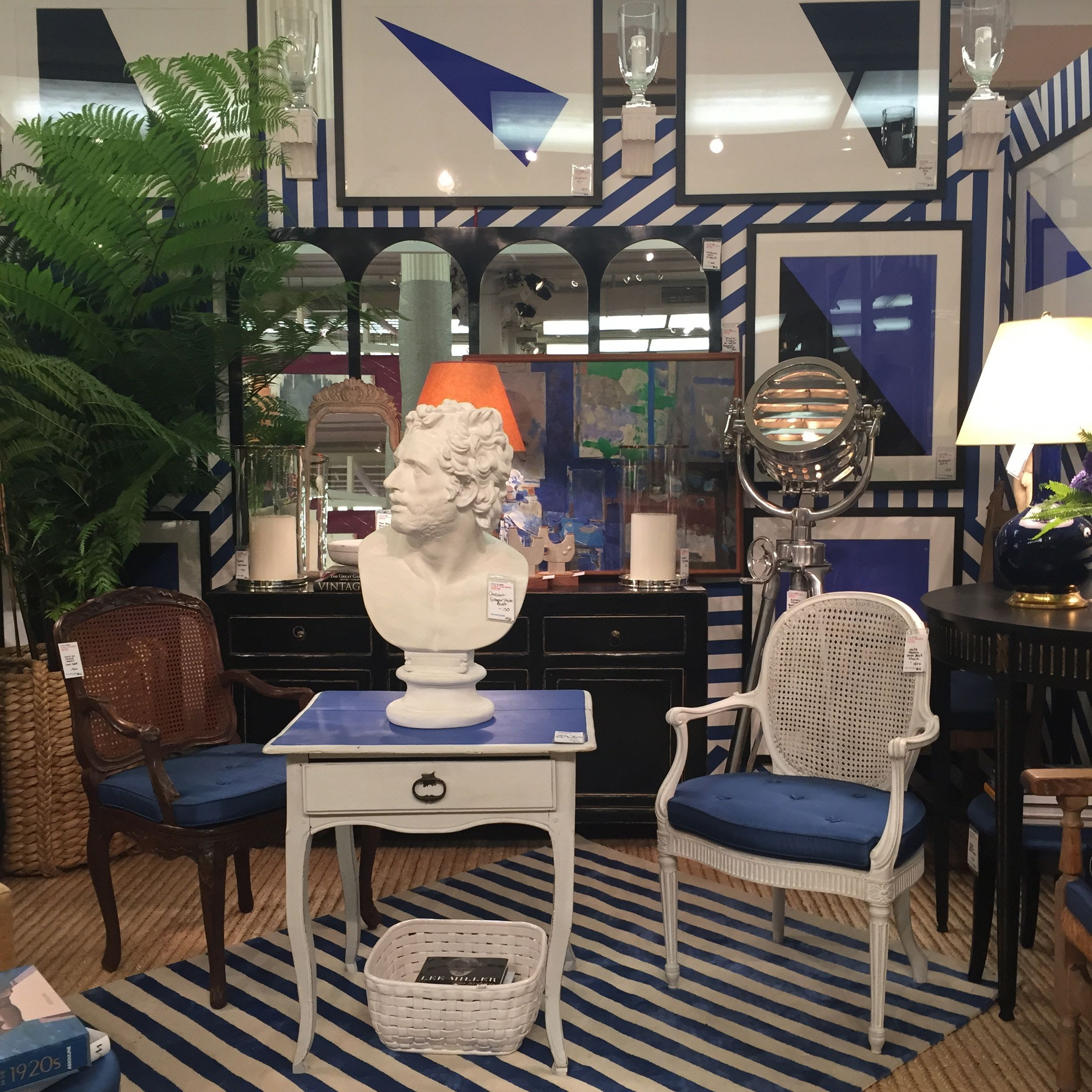 Habitually Chic Miles Redd Does Blue And White