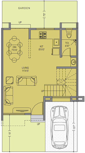 Leela Greens Talegaon A Type 2 BHK Row House 830 Carpet