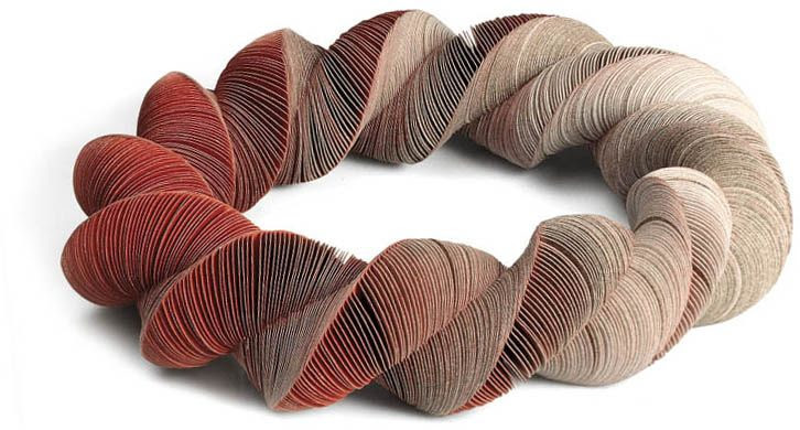 "*Paper Sculpture - ""Necklace"" by Nel Linssen"