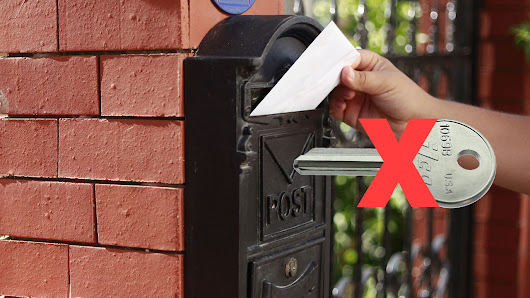 Lost key for mailbox? Read to see what you should do now.