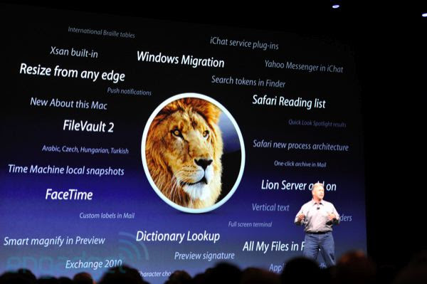 Novos recursos do OS X Lion (Foto: Reprodução: Engadget)