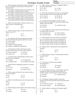 30 Periodic Trends Atomic Radius Worksheet Answer Key ...