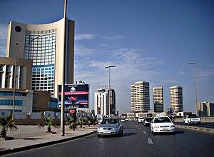 Office and hotel towers along Shari' al Cornic...