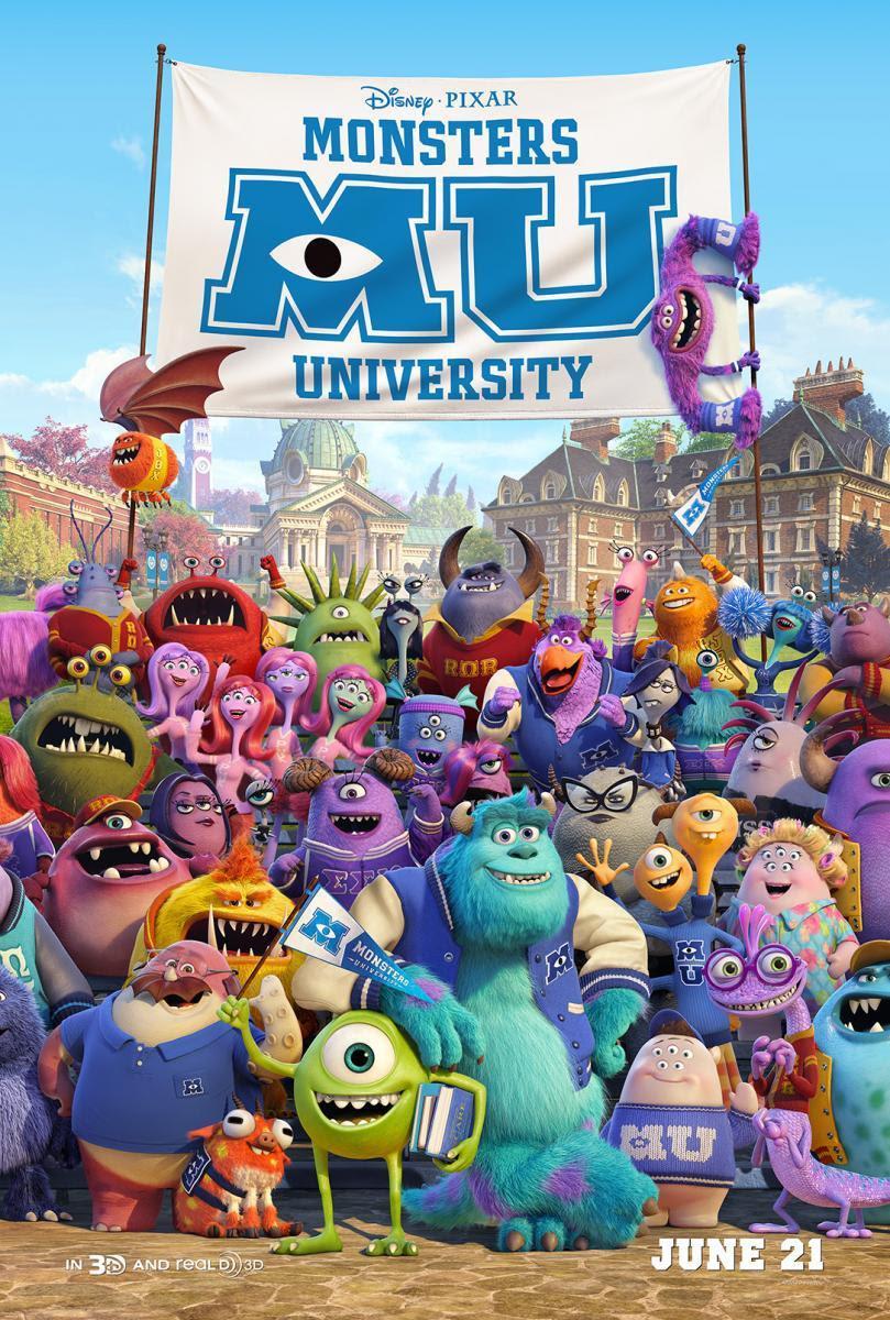 póster monstruos university