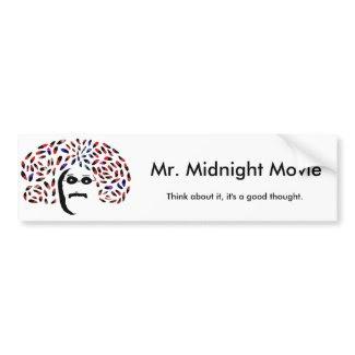 Official Mr. Midnight Movie Bumper Sticker