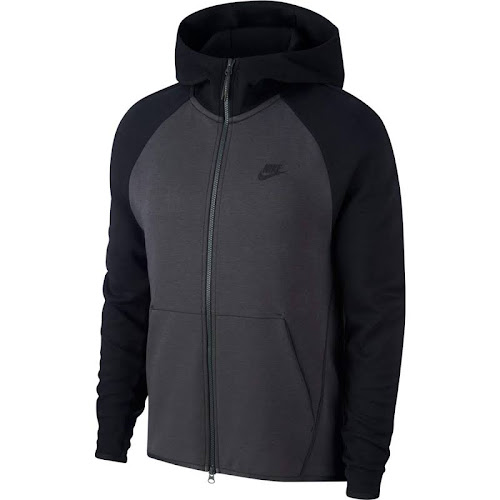 f0967113c352 Nike Tech Fleece Full-Zip Hoodie - Mens Anthracite Black Black ...